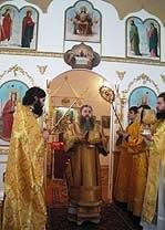 13 февраля 2005 года Преосвященнейший Лонгин, Епископ Саратовский и Вольский, совершил чин великого освящения Покровского храма